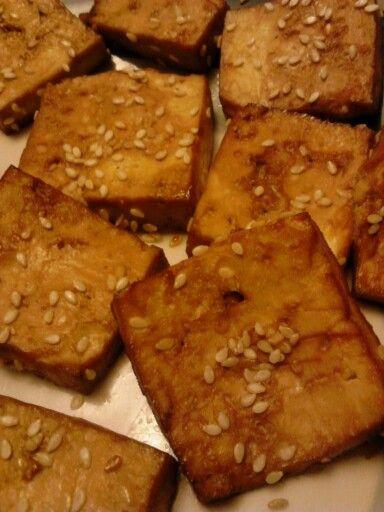 Baked tofu marinated with shoyu sesame ginger garlic onion & love. 1st ...