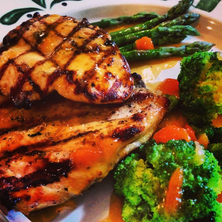 Apricot chicken, asparagus and broccoli, | Food | Pinterest