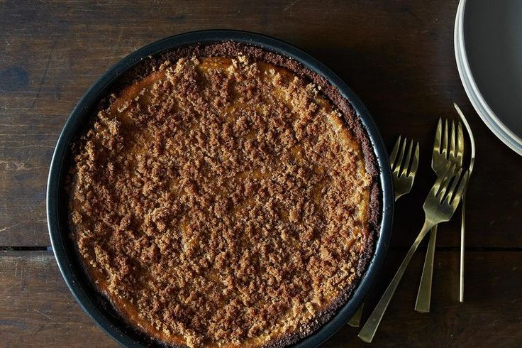 Pumpkin Pie with Gingersnap Crust and Cinnamon Whipped Cream / food52