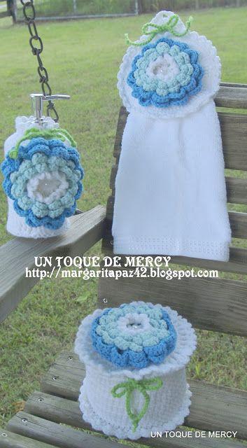 Set De Baño En Crochet:El Bano Para Crochet Set