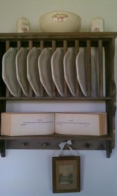 vintage plate rack