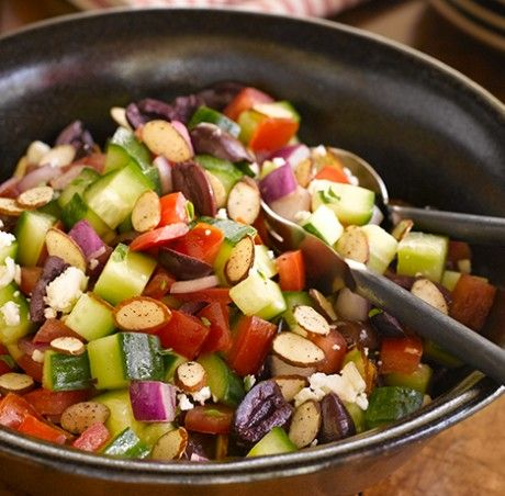 Greek Chopped Salad: Toasted garlic adds a flavor twist to traditional ...