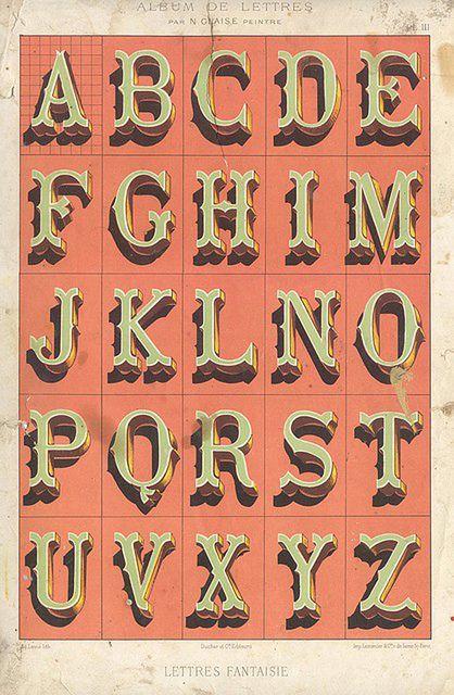 Awesome Vintage Typography Alphabet Chalk Art