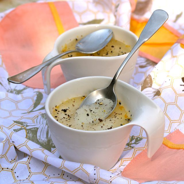 Meyer Lemon and Peppercorn Italian Ice | ASpicyPerspective.com #light ...