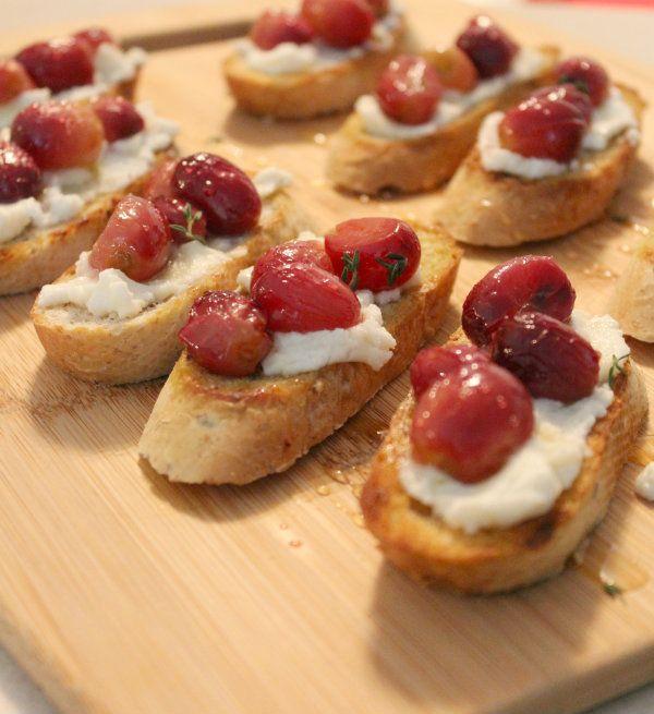 ... roasted blueberry ricotta crostini recipes dishmaps roasted blueberry