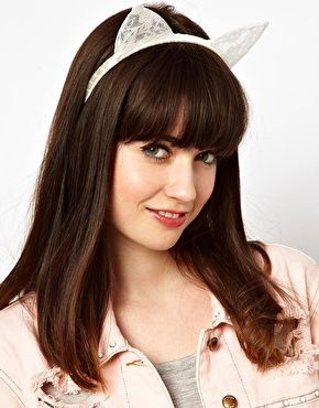 ASOS Cat Ears Lace Headband