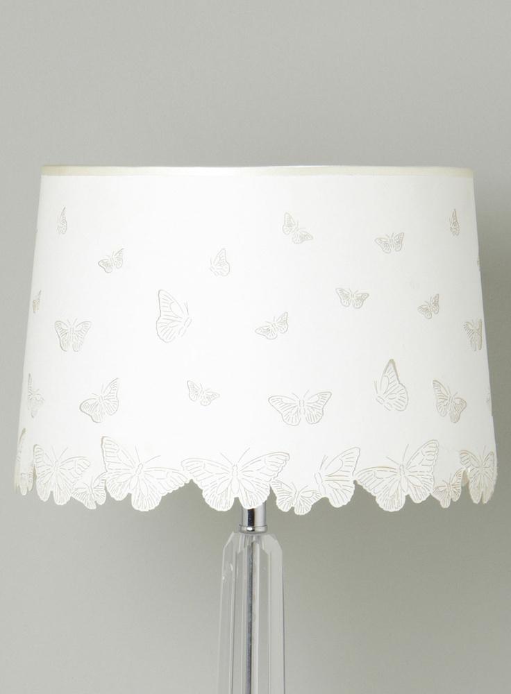 butterfly lamp shade nursery ideas pinterest. Black Bedroom Furniture Sets. Home Design Ideas