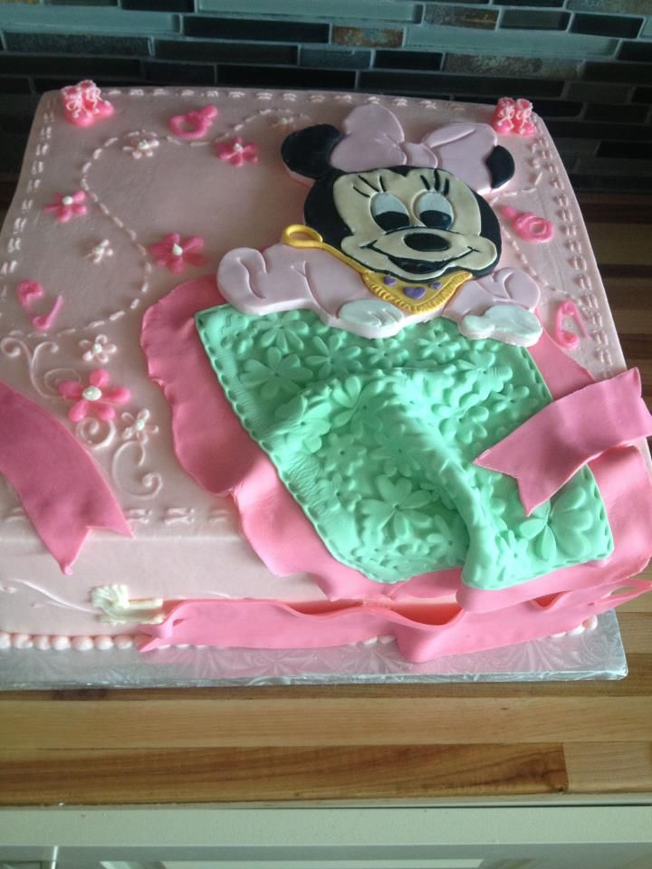 Minnie Mouse Baby Shower Cake Images : Mini Mouse Baby shower cake Fiestas!!! Pinterest