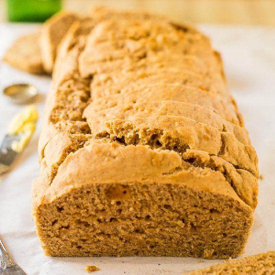 Sweet Potato Maple Vegan Beer Bread - No sugar, no eggs, no butter ...