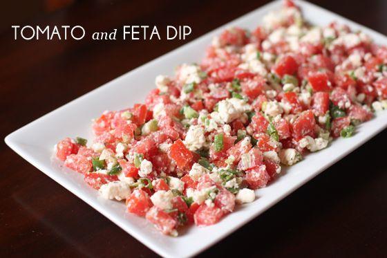 Tomato & Feta Dip | Dips & Salsas | Pinterest