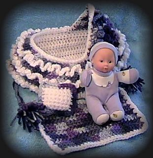Crochet Baby Cradle Purse Pattern : Blueberries Cradle Purse Pattern pattern by Pam Schwartz
