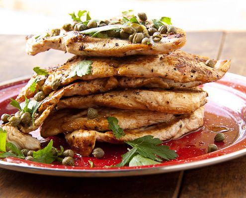 Lemony Chicken Escalopes & Capers - These chicken Escalopes make for a ...