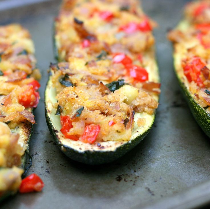 Mix it Up: Stuffed Zucchini Boats - need longer cook time. Zucchini ...
