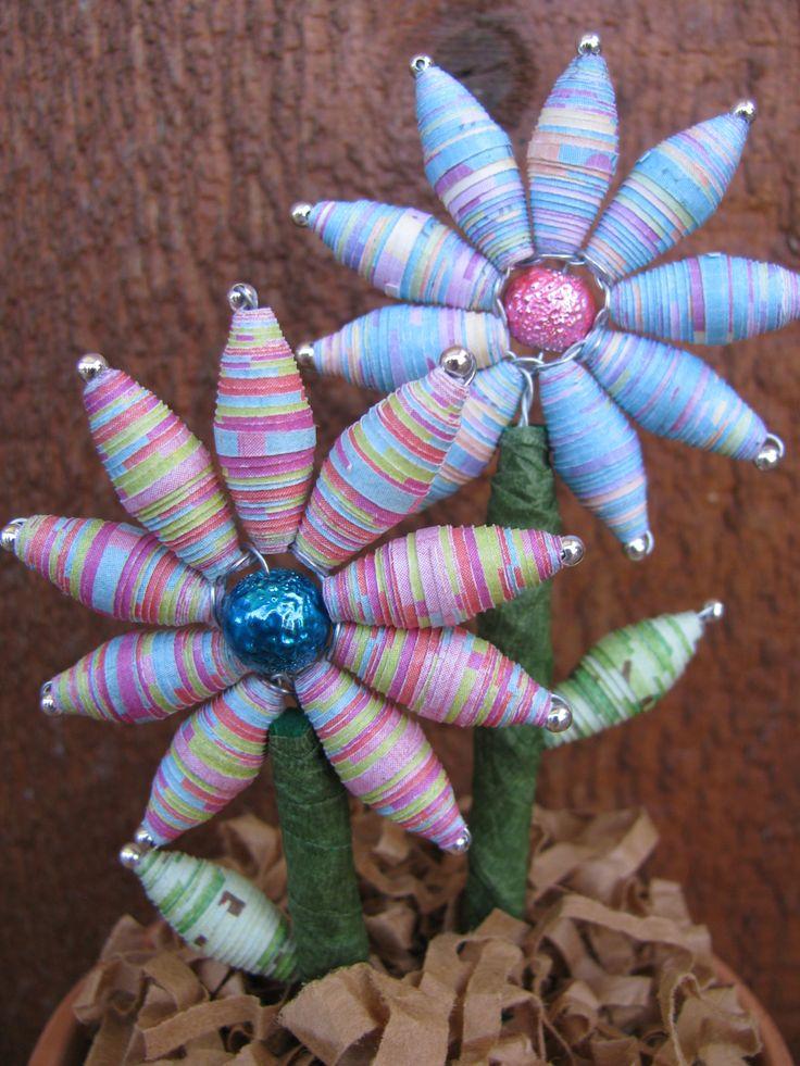 Paper Bead Flowers!