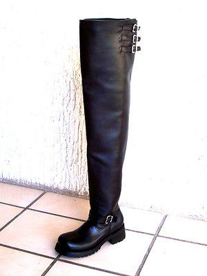 thigh high custom made to order any size engineer boots 32
