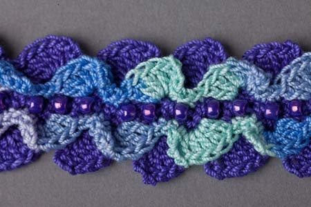 Crochet Ocean Wave : Ocean Waves Bracelet - Crochet Me crochet Pinterest