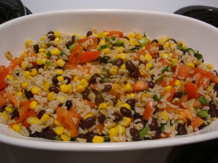 Fiesta Lime Rice (I used brown rice in my recipe)