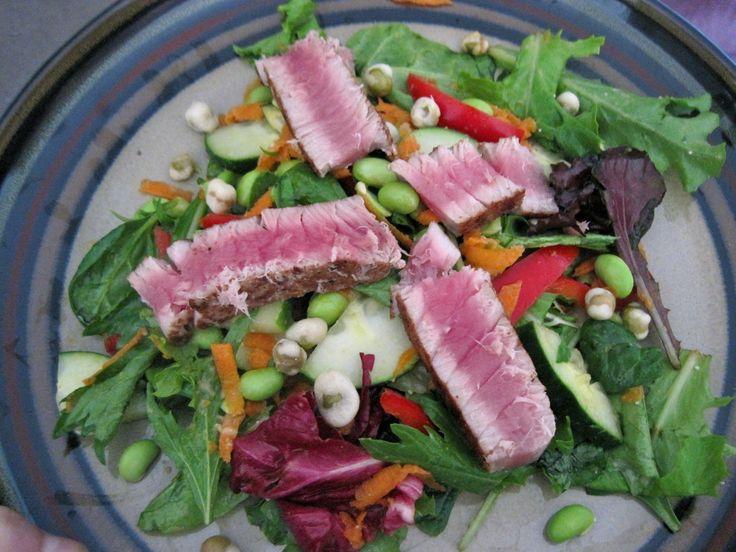 Asian Ahi Tuna salad | my food blog | Pinterest