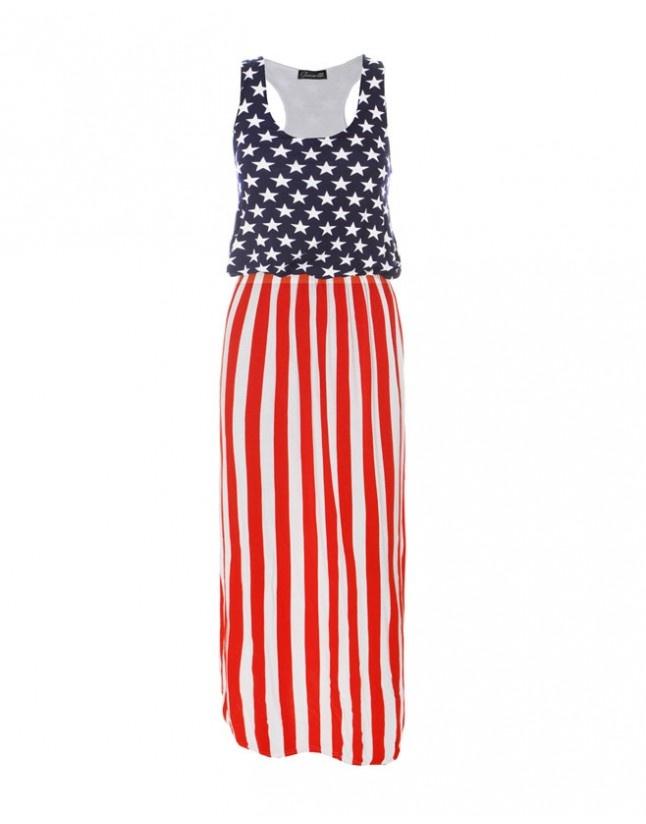 Stars amp stripes full length maxi dress dresses pinterest