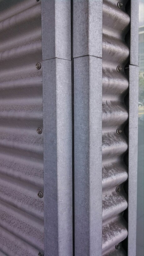 Corrugated Metal Panel Architectural Details : Corrugated metal panel corner detail oceanside