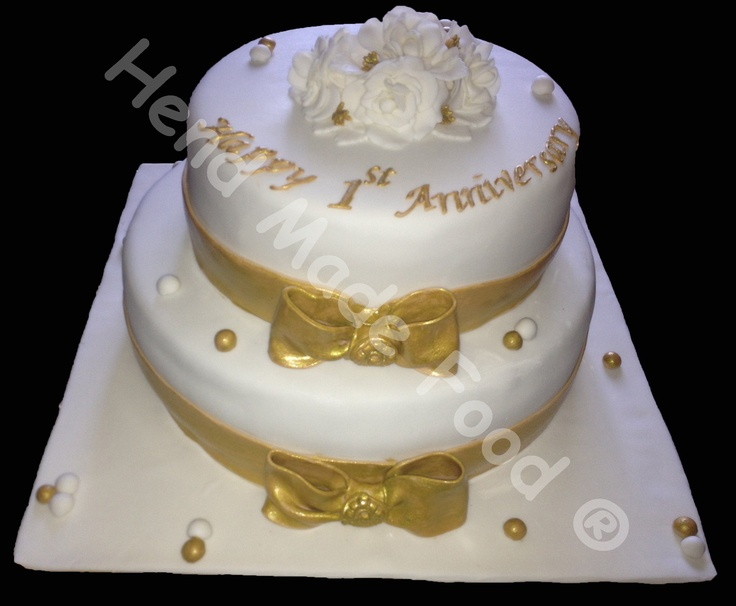 Cake Designs For 1st Wedding Anniversary : 1st anniversary cake Cakes (all kinds) Pinterest