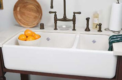 Divided Rohl farmhouse sink - 40 inches
