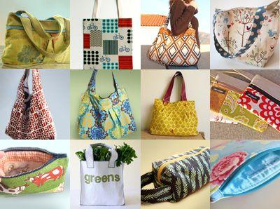 12 Free bag tutorials - i love bags.