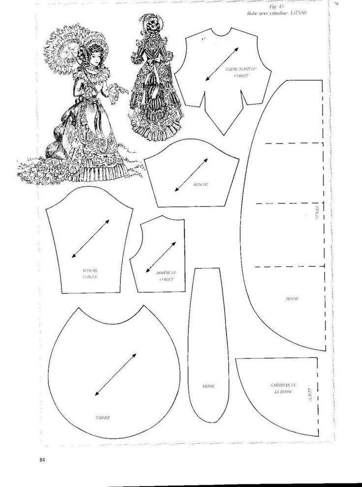 Платье фарфоровой куклы выкройки