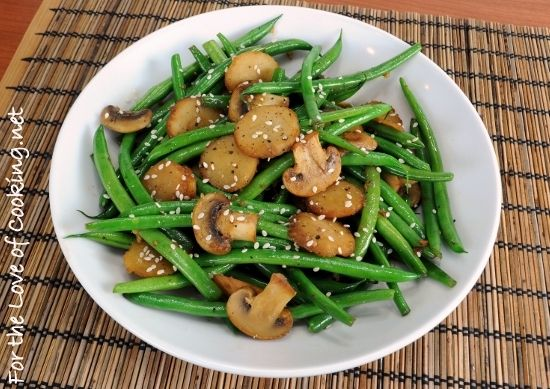 Sesame Green Beans with Mushrooms and Chestnuts {Via @For the Love of ...