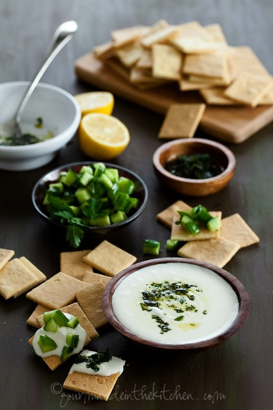 Creamy Whipped Feta Dip with Mint Parsley Pesto and Cucumbers ...