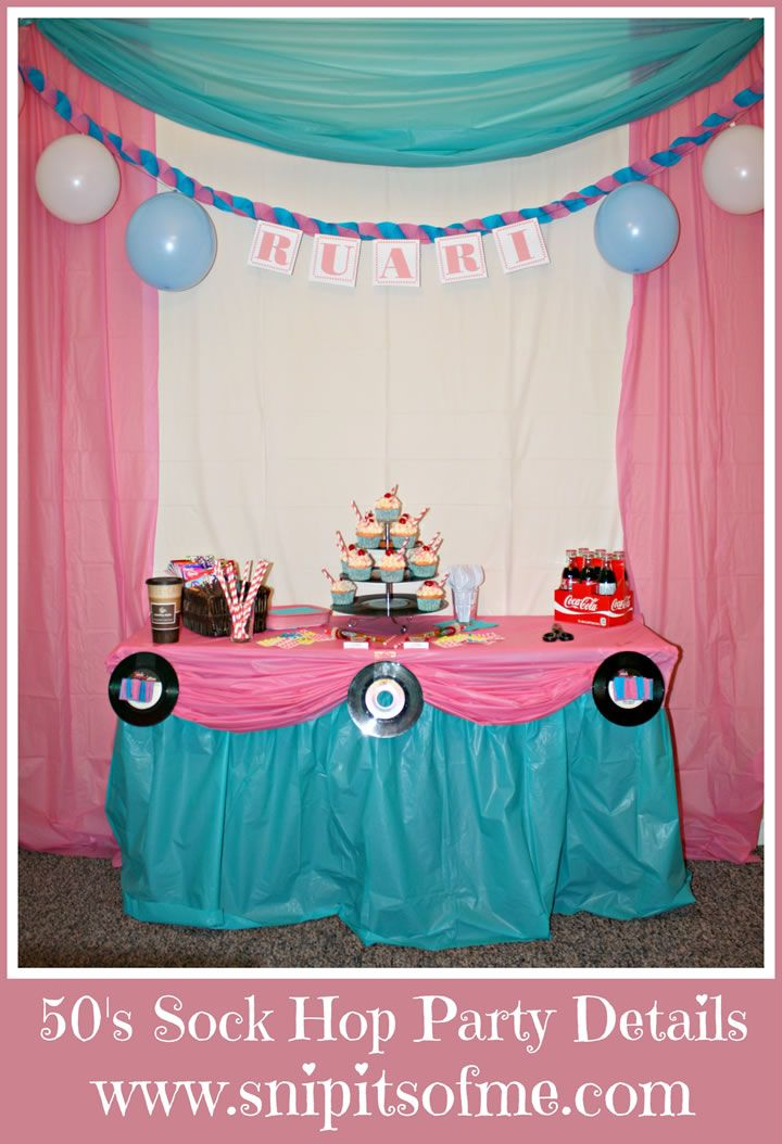 Sock hop party sock hop pinterest for 50 s decoration ideas