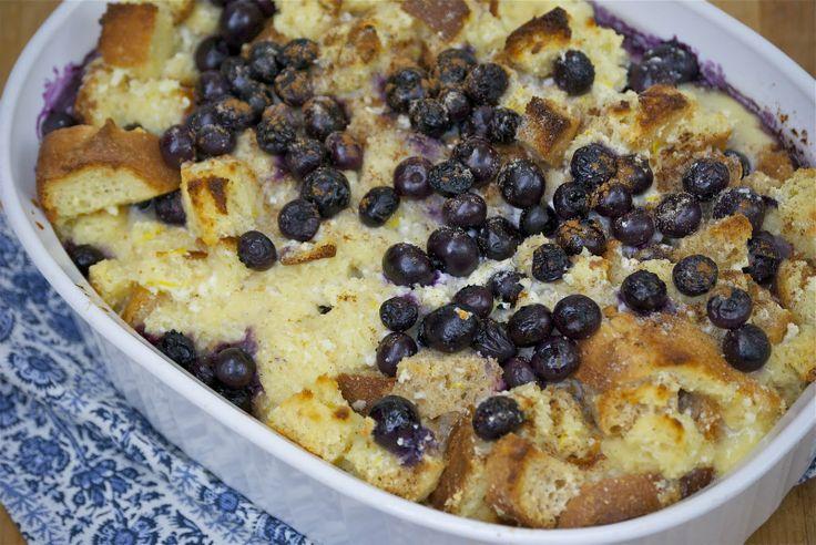 Lemon Blueberry Ricotta Bread Pudding | Recipes to try | Pinterest