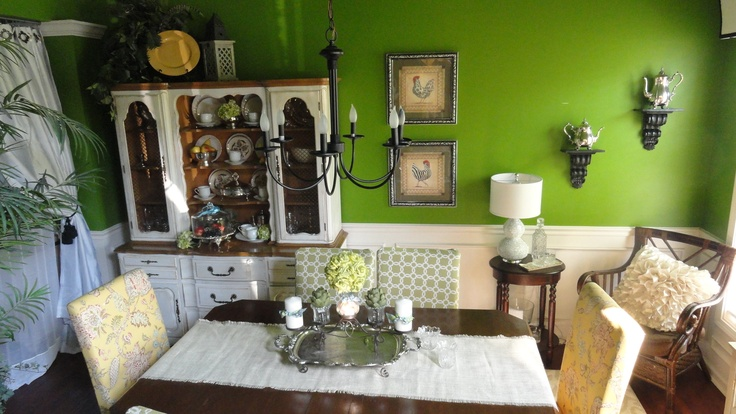 Green French Country Dining Room Dining Pinterest