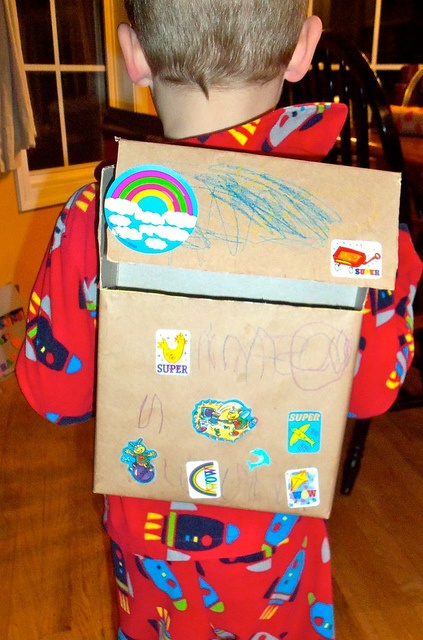 Cereal Box Backpack by renaelyn, via Flickr...going to make this with ...