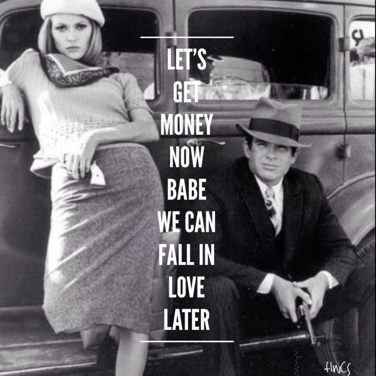 want a relationship like bonnie and clyde