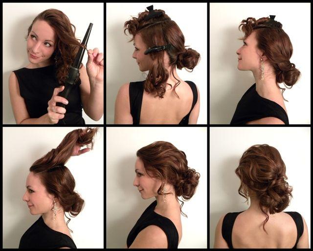 Прическа в домашних условиях своими руками на средние волосы