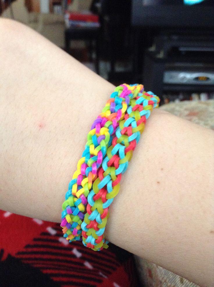 inverted fishtail rainbow loom bracelets i did this