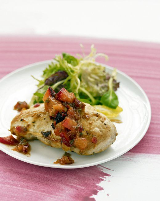Chicken with Plum Chutney - Martha - I couldnt find plums so I used ...