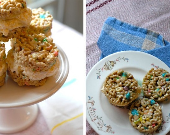 Lucky Charms ice cream sandwiches. um, yum.