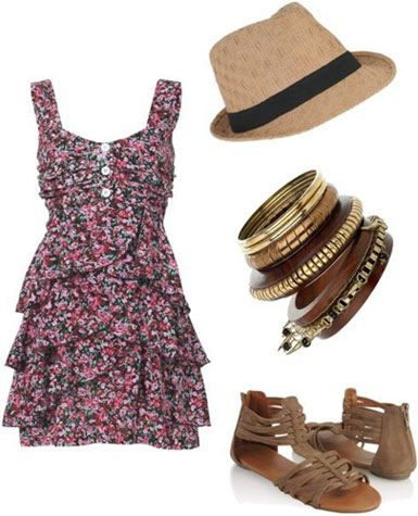 now this hat, i like. Cute outfit