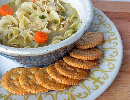 Chunky Chicken soup _ is a delicious soup made with chopped cooked ...