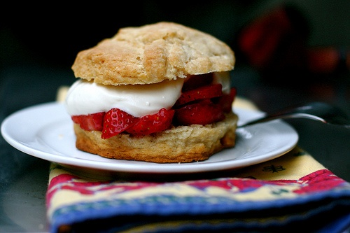 Strawberry Shortcakes with Brown Sugar Biscuits and Mascarpone Cream ...