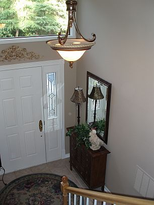 Entryway of a split level home for the home pinterest for Bi level foyer ideas