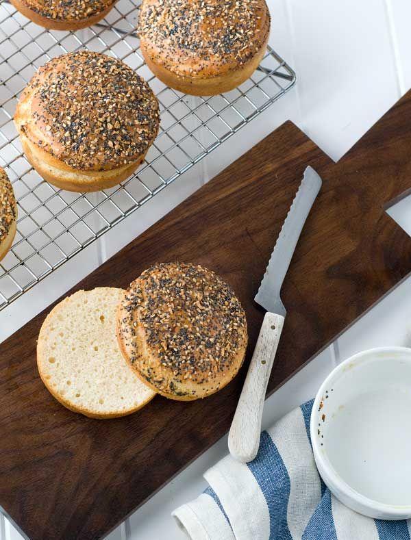 Gluten Free Everything Bagel Burger Buns | Gluten-free | Pinterest