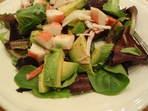 Crab and Avocado Salad | Resolute I Am | Pinterest