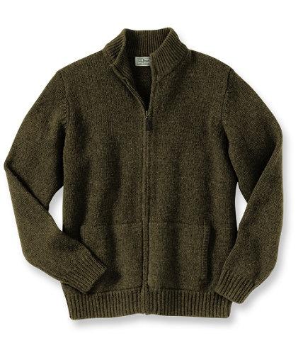 Full Zip Ragg Wool Sweater