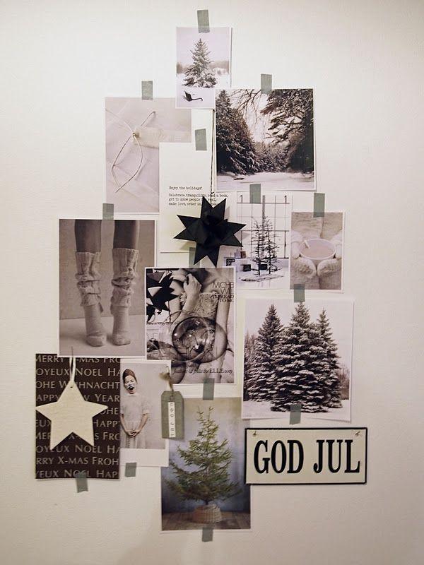 クリスマスツリーを写真でマスキングテープ