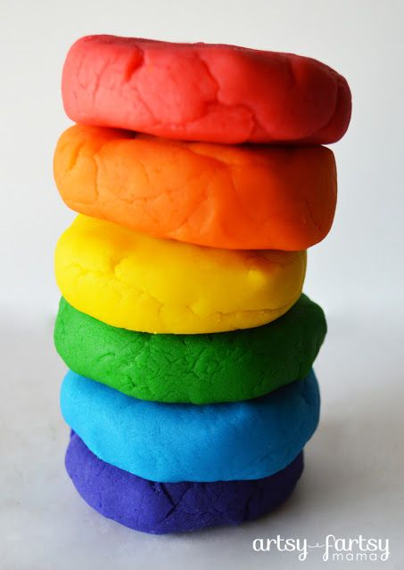 DIY Playdough, I just tried it and it was so fast and easy and we had soooo much fun! FYI The liquid food colour worked just as good.