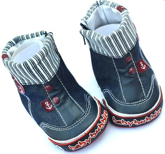 New Blue Baby Boy Walking Shoes High Top Boots