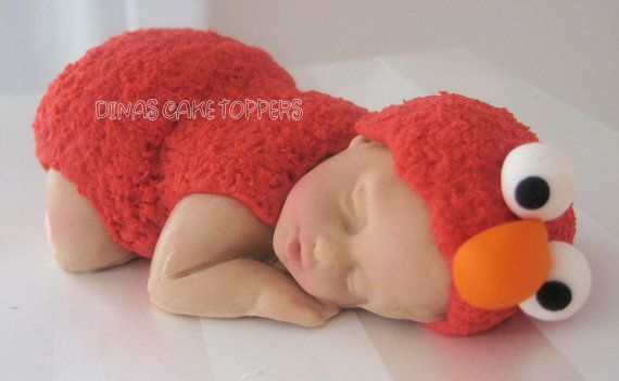elmo baby cake topper baby shower 1st birthday larger baby
